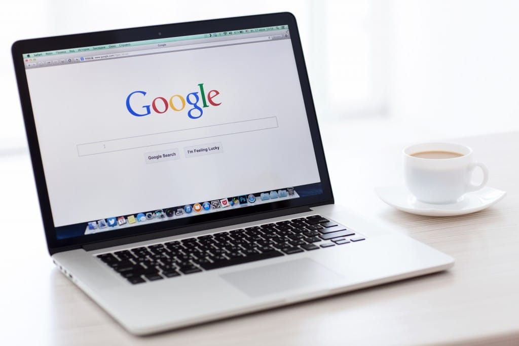 Simferopol Russia - June 22 2014: Google biggest Internet search engine. Google.com domain was registered September 15 1997
