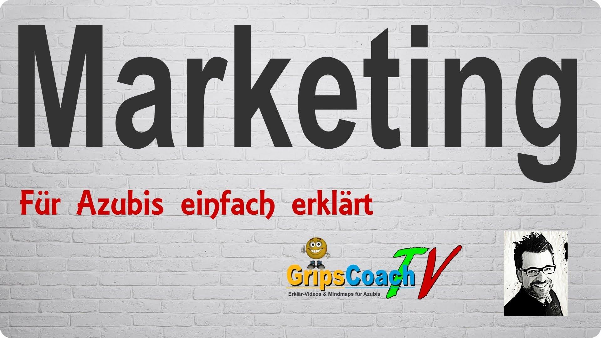 Marketing einfach erklärt – Prüfungswissen für Azubis ★ GripsCoachTV
