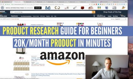 Amazon FBA PRODUCT RESEARCH GUIDE For BEGINNERS #1 | FINDING A 20K/MONTH PRODUCT IN MINUTES!