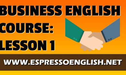 BUSINESS ENGLISH COURSE LESSON 1 / VOCABULARY