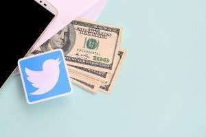 Twitter Paper Logo Lies With Envelope Full Of Dollar Bills