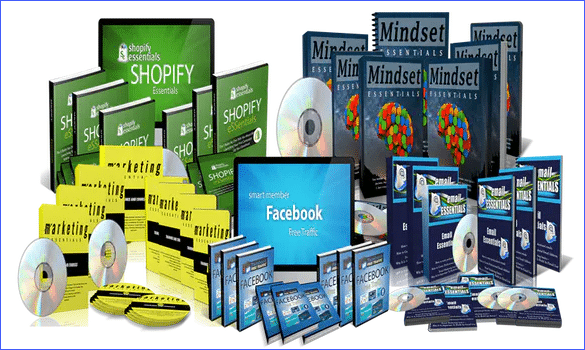 Collage of ebooks of crucial constructs academy