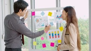 Business people work on project planning