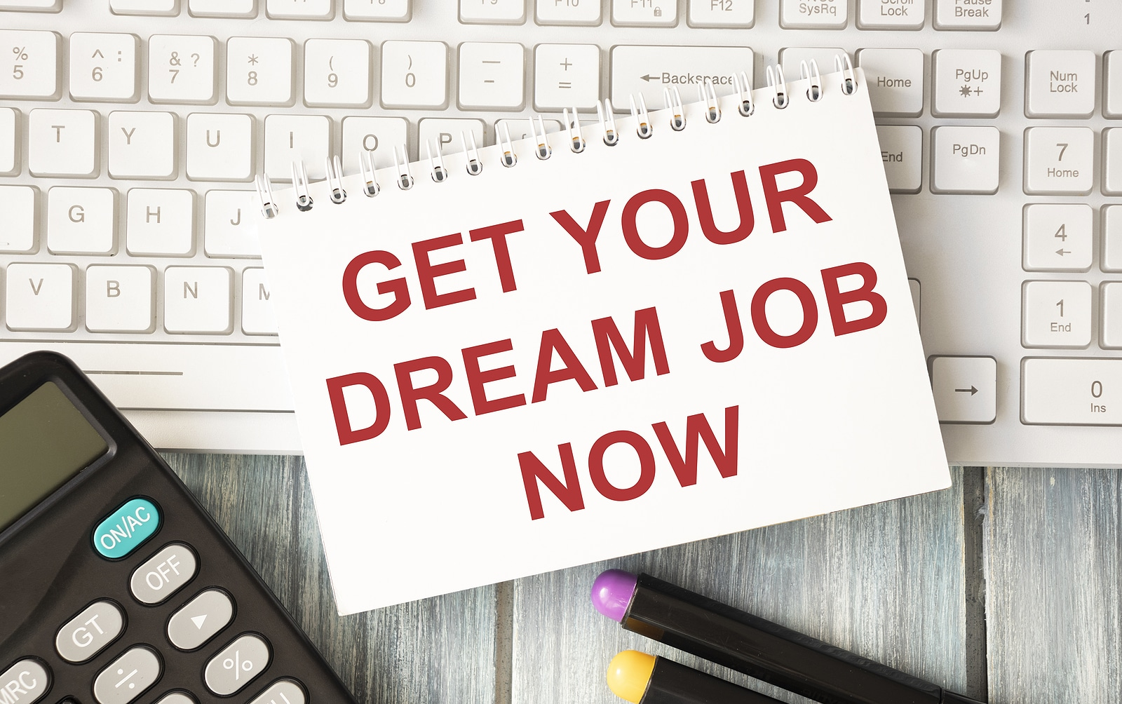Get Your Dream Job Now text on screen